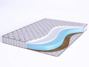 Матрас с Airfoam с кокосом и с холлофайбером - Elastic Multi HFC10 - Beautyson - чехол ХЛОПОК