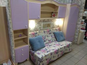 Набор мебели Джулли Сирень - из 2-х шкафов с полкой и в подарок стеллаж - (скидка 55%)