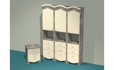 Набор мебели ДЖУЛИ - 3 шкафа-пенала - тумба - скидка%