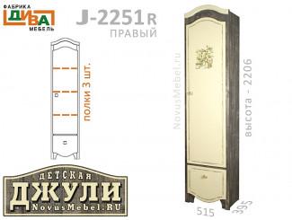 1-дверный шкаф с 3-мя полками - J-2251R правый