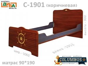 Кровать - 90*190, без ортопеда - С-1901.3