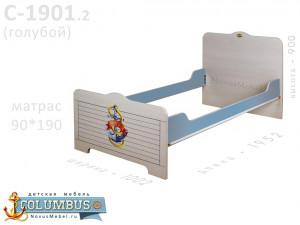 Кровать - 90*190, без ортопеда - С-1901.2