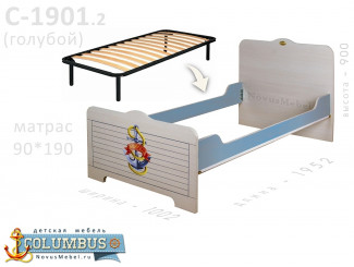 Кровать с ортопедическим основанием - С-1901.2-Orto