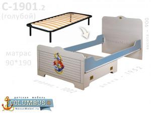 Кровать с ортопедическим осн. с доп. ящ. - С-1901-Orto-190.2
