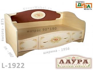 Кровать-тахта сп. м. 90*190, без матраса - L-1922