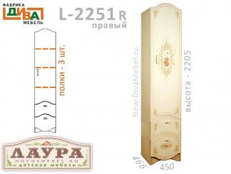 1-дверный шкаф - L-2251R правый
