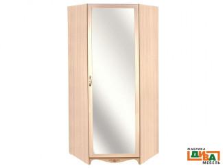 Угловой однодверный шкаф с зеркалом - N-2218М Art