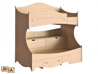 2-х ярусная кровать - ПРАВАЯ - N-1932R (дуб)