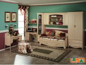 Детская кровать, - 120*200 - N-19012 (дуб)