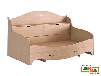 Детская кровать-тахта с ящиками - N-1922А (дуб)