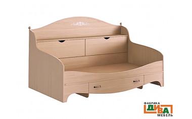 Детская кровать-тахта с ящиками - N-1922А дуб
