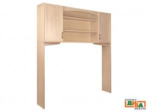 Шкаф-надстройка 2-х дверная - N-0614 (дуб)