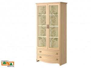 2-х дверный шкаф - стекло - N-2212G (дуб)