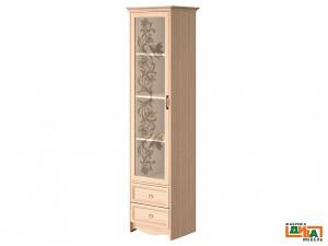 1-дверный шкаф со стеклом - N-2251G (дуб)
