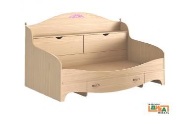 Детская кровать-тахта с ящиками - N-1922А (roz)