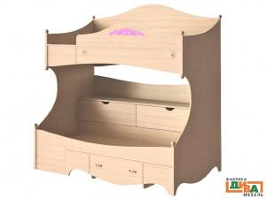 2-х ярусная кровать - ЛЕВАЯ - N-1932L (roz)