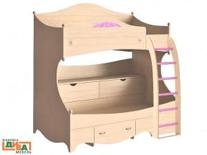 2-х ярусная кровать - ПРАВАЯ - N-1932R (roz)