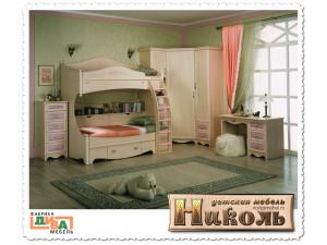 Детская кровать, - 120*200 - N-19012 (roz)