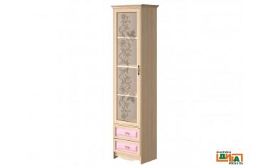 1-дверный шкаф со стеклом - N-2251G (roz)