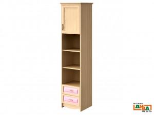 шкаф-пенал - 1 дв, 2 полки и 2 ящ - N-2252 (roz)