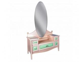 Трюмо с 5-ю ящиками и с овальным зеркалом - N-0505 (zel) -  (скидка 30%)
