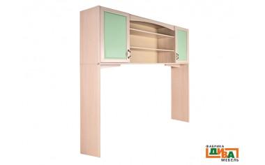 Шкаф-надстройка 2-х дверная - N-0614 (zel)