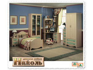 2-х ярусная кровать - ЛЕВАЯ - N-1932L (zel)