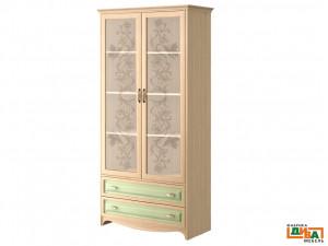 2-х дверный шкаф - стекло - N-2212G (zel)