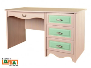 Письменный стол Art, с одной тумбой справа - N-0713 (zel)