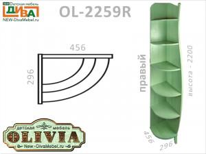 Стеллаж угловой (ПРАВЫЙ) - OL-2259R