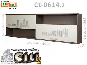 Полка горизонтальная с 2-мя дверками - Сt-0614.2