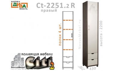 1-дверный шкаф с ящиками ПРАВЫЙ - Сt-2251.2 R