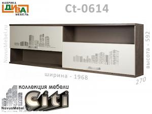 Полка горизонтальная с 2-мя дверками - Сt-0614