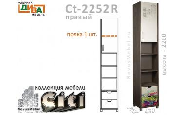 1-дв. шкаф-пенал с ящиками ПРАВЫЙ - Сt-2252R