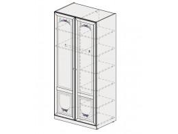 2-х дверный шкаф со штангой и полками СПРАВА - 93н065