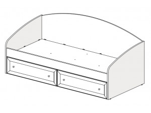Кровать-тахта с 2-мя ящиками - 93к035.2