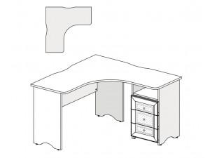 Угловой письменный стол с тумбой СПРАВА - 93s111