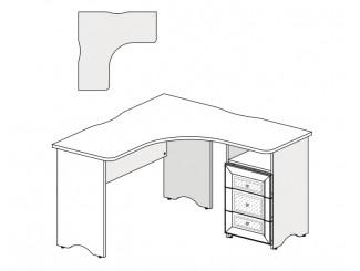 Угловой письменный стол с тумбой СПРАВА - 93s101