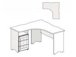 Угловой письменный стол с тумбой СЛЕВА - 93s112
