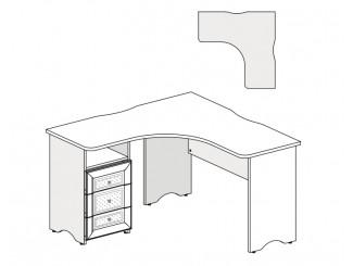 Угловой письменный стол с тумбой СЛЕВА - 93s102