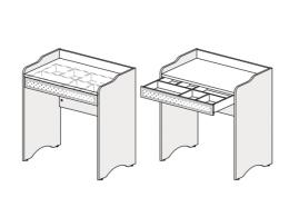 Стол туалетный с ящиком - 93s113