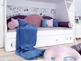 Двухярусная кровать, с металической лестницей СЛЕВА - 93к025-d25