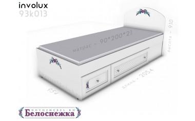 Кровать 90*200 с 2-мя ящиками - 93к013