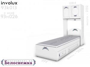 Кровать сп.м. - 90*200, с 2-мя ящиками СПАРА - 93к013