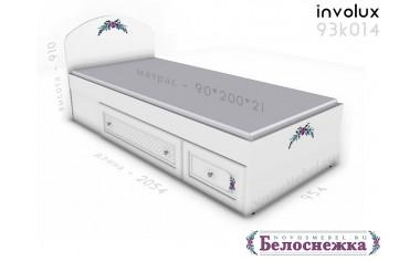 Кровать 90*200 с 2-мя ящиками - 93к014