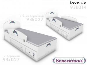 Кровать сп.м. - 90*200, с 2-мя ящиками СЛЕВА - 93к014