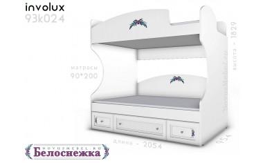 2х-ярусная кровать, без лестницы - 93к024