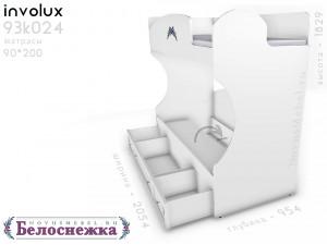 Двухярусная кровать, без лестницы - 93к024, вход СПРАВА
