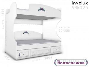 Двухярусная кровать, без лестницы - 93к025, вход СЛЕВА