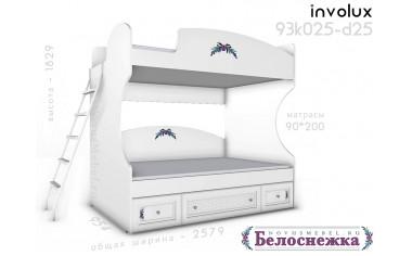 2х-ярусная кровать, с лестницей - 93к025